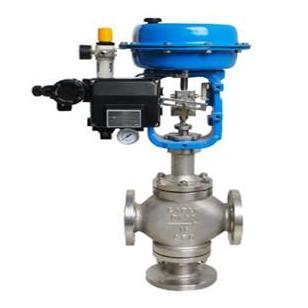 Pneumatic 3 way diverting regulating valve - Pneumatic ...